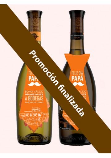 Pack Día del Padre - (Estuche: 1 botella Torre La Moreira 0,75l, 1 botella Marqués de Vizhoja 0,75l y 2 visitas a bodega)