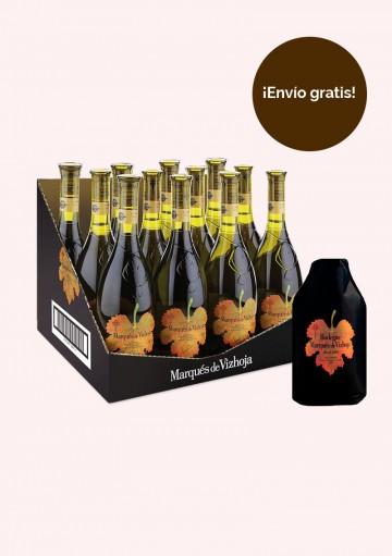 Pack Marqués de Vizhoja - (1 caja de 12 botellas de Marqués de Vizhoja 0,75l y un enfriador)