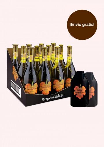 ¡Promoción verano! 1 caja de 12 botellas de Marqués de Vizhoja (0,75l) + 2 enfriadores.
