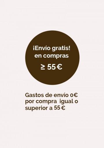 Envío gratis en compras igual o superiores a 55€