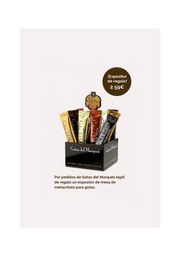 Expositor de mesa para Gotas del Marqués de regalo