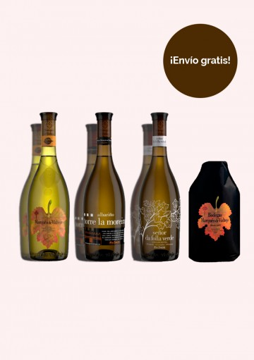 Pack Bodegas Marqués de Vizhoja - (2 botellas de 0,75l de cada una de las 3 variedades de nuestros vinos y un enfriador)